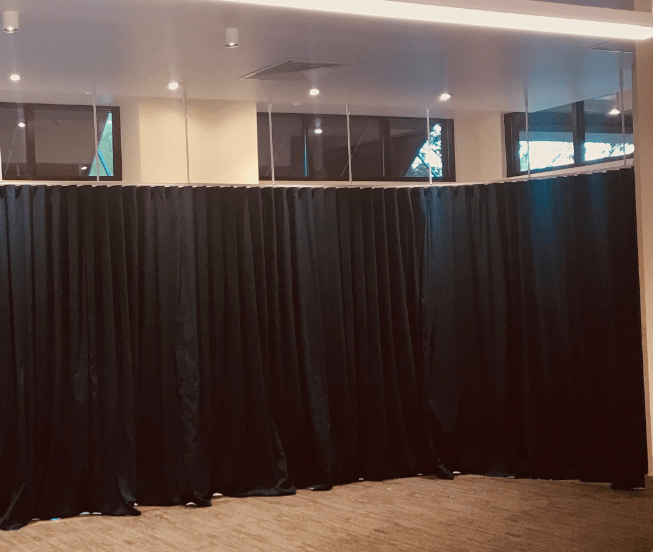 suspended ripplefold ks curtain track