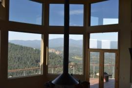 A house we installed window tint on in Evergreen Colorado.