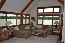 A lakehouse we installed window tint on in Fort Collins, Colorado