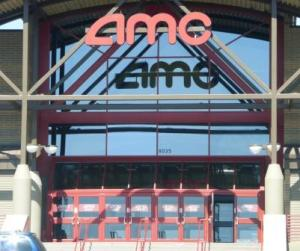 Cleaning windows at the AMC on Bowls Ave. in Littleton, Co. Commercial window cleaning Denver.