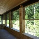 Solar patio shades in Denver Colorado. This picture shows how you can clearly see through the patio shade.