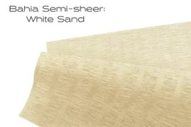 Elements Bahia Semi-sheer White Sand window shade fabric