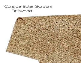 Elements Corsica Solar Screen Driftwood solar shade fabric