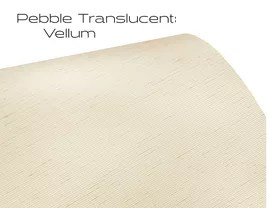 Elements Pebble Translucent Vellum window shade fabric