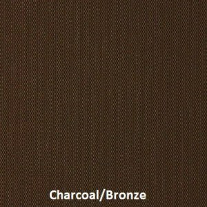 Here is a fabric sample of our M Screen series for solar screens, this is Charcoal/Bronze.