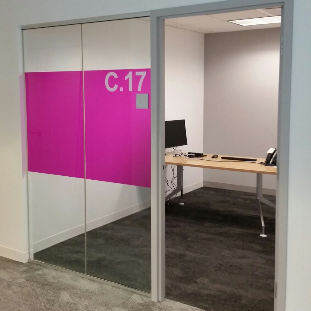 Interesting Decorative Glass Film Job Adds New Flair to Office Space