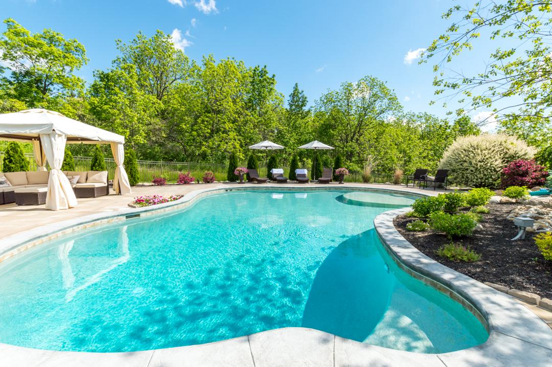 inground pool, cuddle cove pool, gunite swimming pool, conrete pool, Rochester, NY,