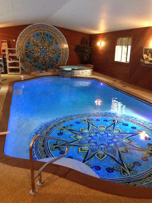 Indoor Pool With Custom Tile