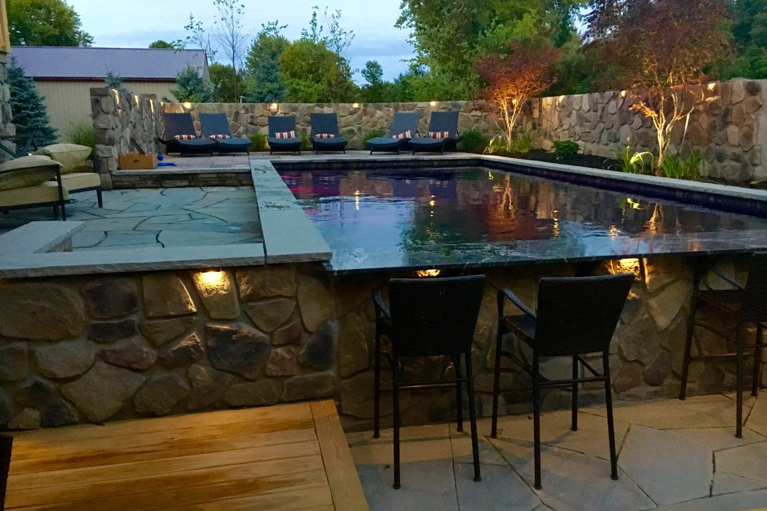 Custom Swim Up Bar