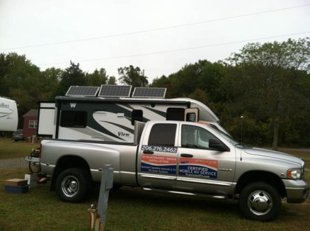 Solar power panels for Winnebago View