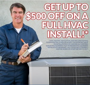 up to $500 off Hvac Install