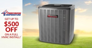 Up to $500 Off a Full HVAC Install - July 2017
