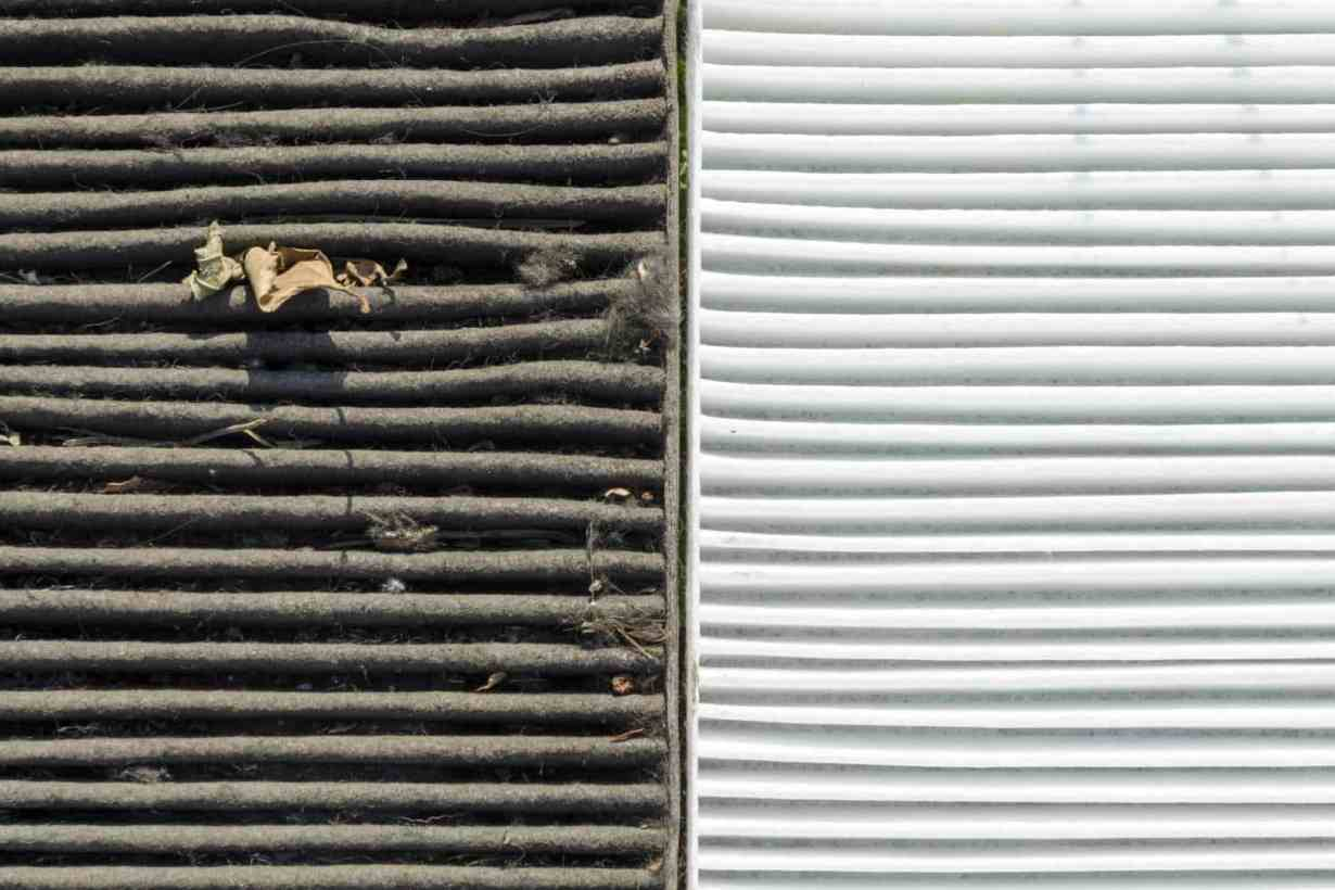 furnace is blowing cold air because the air filter is dirty