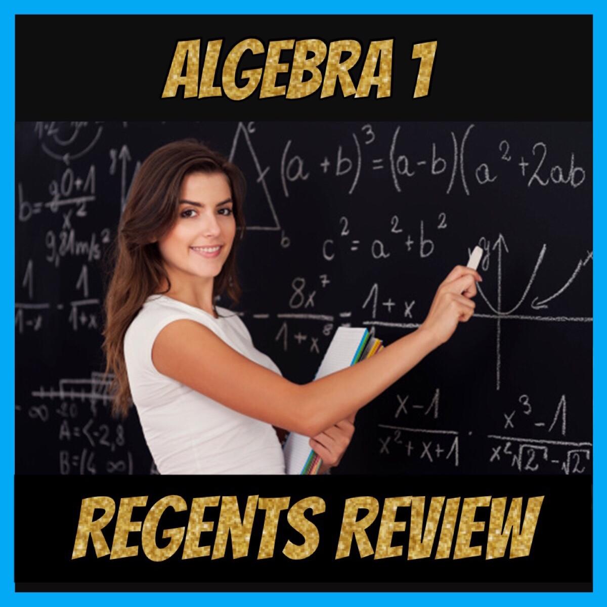 Algebra 1 Regents Review Classes - Study with a Teacher Night - Precision  Test Prep