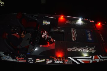 Brandon Palaniuk's Skeeter is lit up as he waits for launch