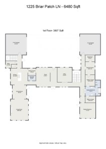 Floorplan letterhead - 1225 Briar Patch LN - 6480 Sqft - 1st Floor- 3897 Sqft - 2D Floor Plan