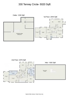 Project letterhead - 330 Tenney Circle- 5020 Sqft - 2D Floor Plan