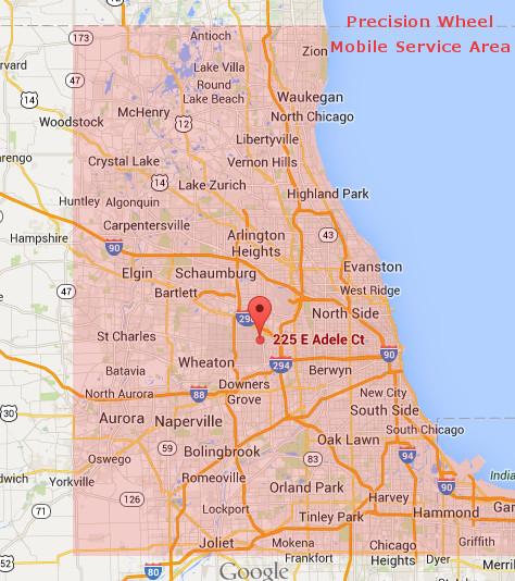 Precision Service Area Map