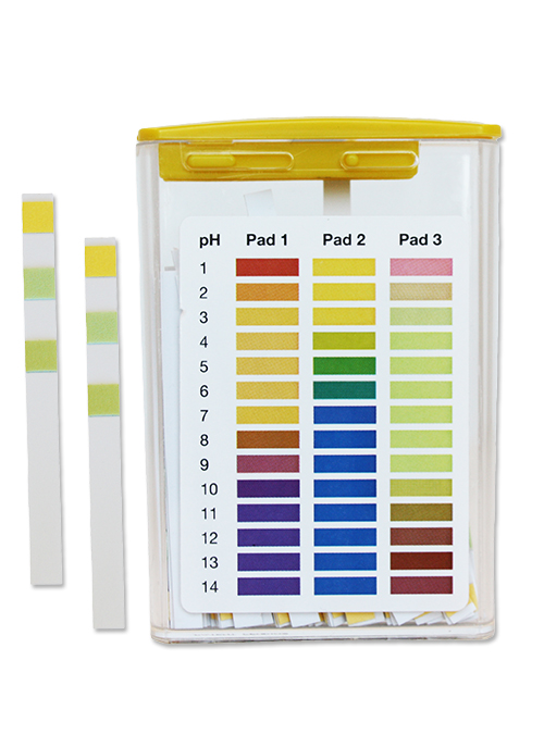 pH 1-14 Test Strips, 3 pad