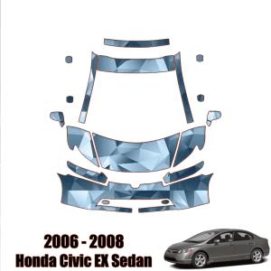 2006-2008 Honda Civic EX Sedan – Precut Paint Protection Kit (PPF) Partial Front