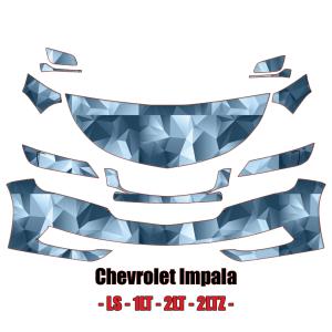 2014 – 2021 Chevrolet Impala LS 1LT 2LT 2LTZ  – Precut Paint Protection Kit (PPF) Partial Front