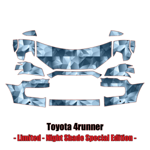 2014 – 2021 Toyota 4Runner Limited Night Shade Special Edition Paint Protection Kit (PPF)