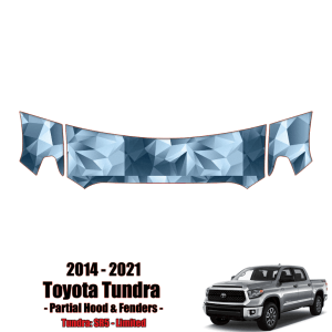 2014 – 2021 Toyota Tundra – Precut Paint Protection Kit (PPF) Partial Hood + Fenders