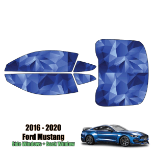 2016 – 2020 Ford Mustang – Full Coupe Precut Window Tint Kit Automotive Window Film