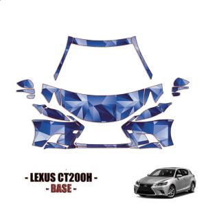 2014-2021 Lexus CT200H Base  PPF Kit PreCut Paint Protection Kit – Partial Front