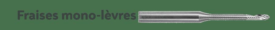 Precxis outils dentaires et medicaux - Fraises CAD-CAM ROLAND Mono-lèvres pour PMMA & PEEK