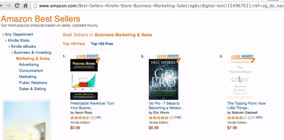 "Predictable Revenue Kindle hits #1 of all ""Sales & Marketing"" books!"
