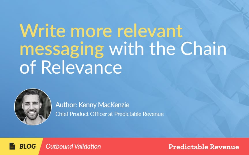 Write more relevant messaging with the Chain of Relevance