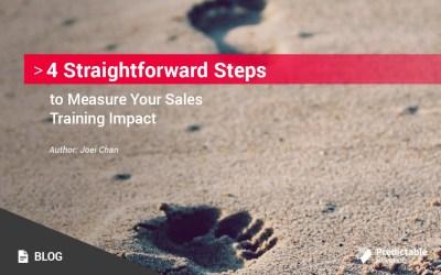 4 Straightforward Steps to Measure Your Sales Training Impact