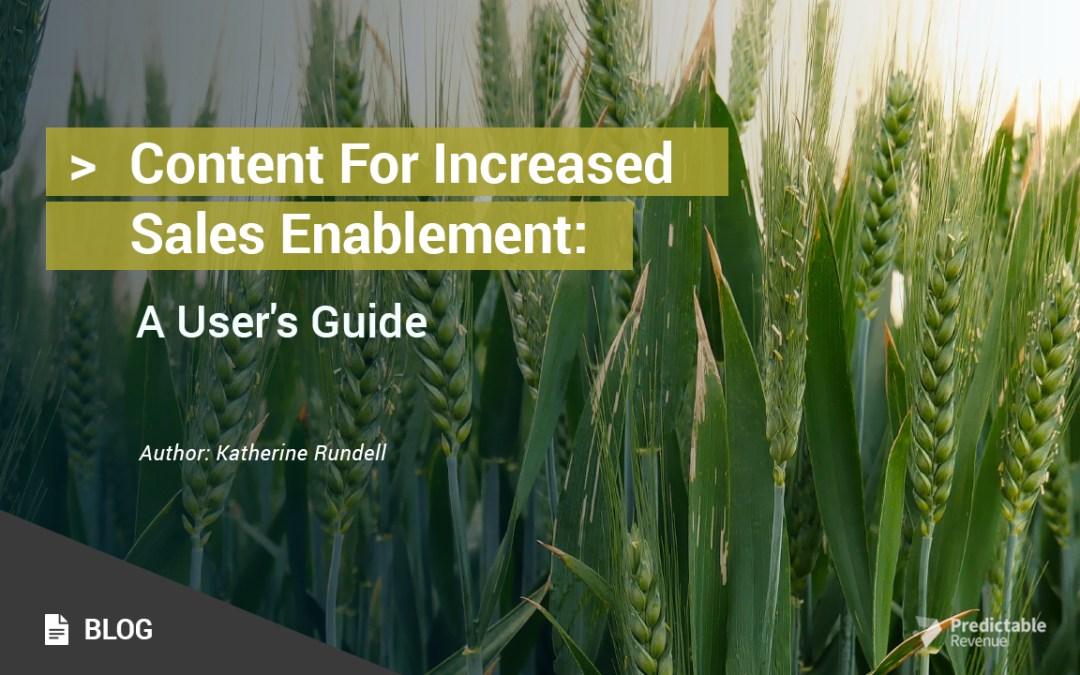 Content For Increased Sales Enablement: A User's Guide