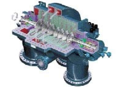 Fig 16. Corte de un Compresor Centrífugo (CC)