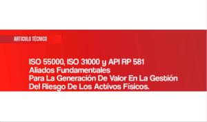 SO 55000, ISO 31000 y API RP 581y el análisis del riesgo