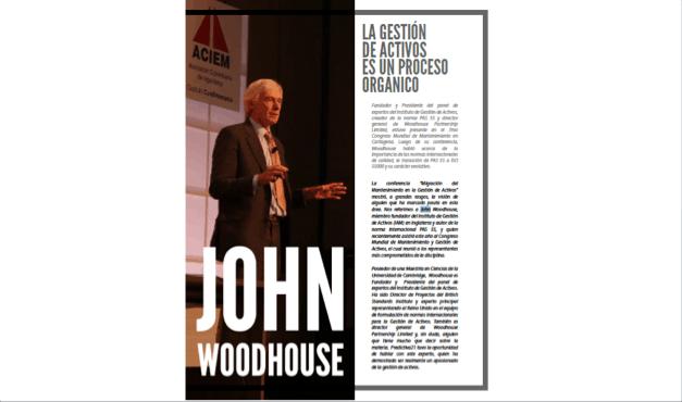 John Woodhouse: La Gestión de Activos es un Proceso Orgánico