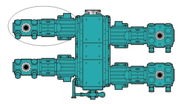 Figura 2. Identificación de Cilindro Compresor más Cercano al Acople