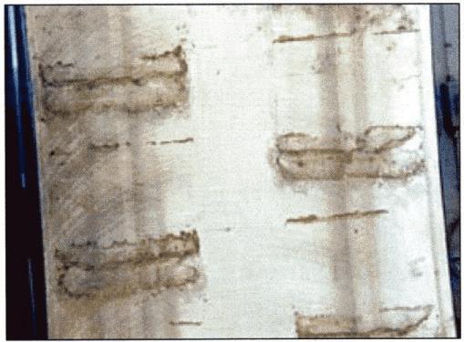 Figura 16. Manchas de grabado en equipo almacenado.