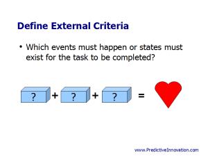 Define External Criteria