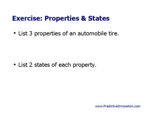 Properties & States Exercise
