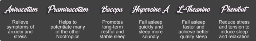 L-Theanine for Sleep with Other Nootropics