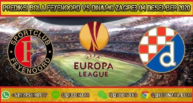 Prediksi Bola Feyenoord Vs Dinamo Zagreb 04 Desember 2020