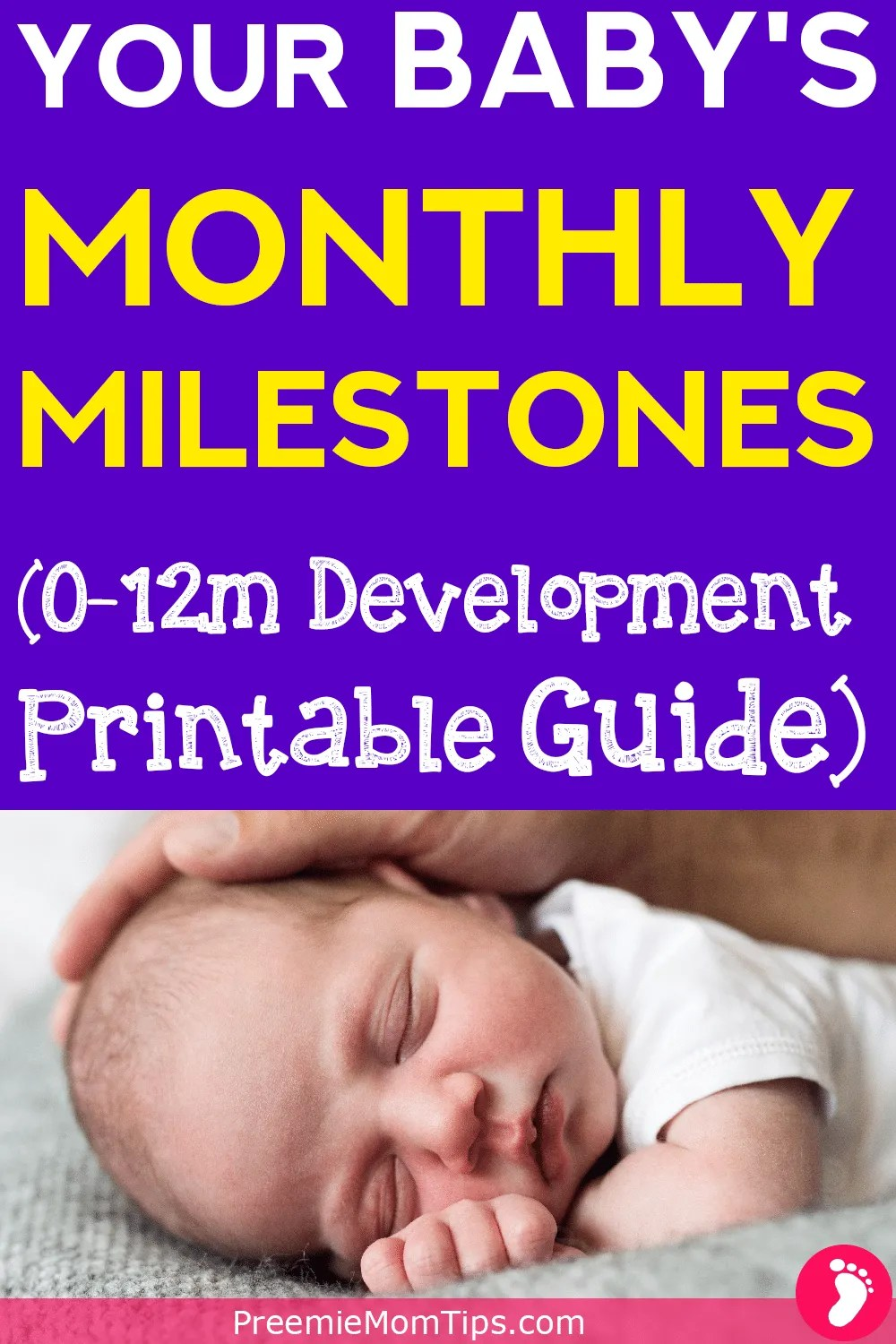 Track your baby's development monthly. A complete month by month milestone guide, with a Printable!