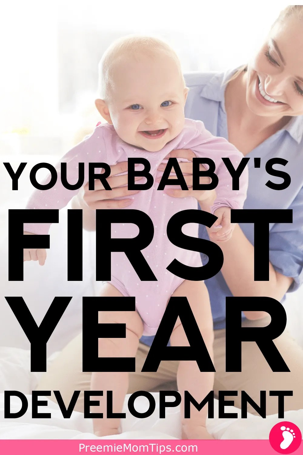 Be on top of your baby's development with this milestone guide from newborn to 12 months. Month by month milestones, and trivia!