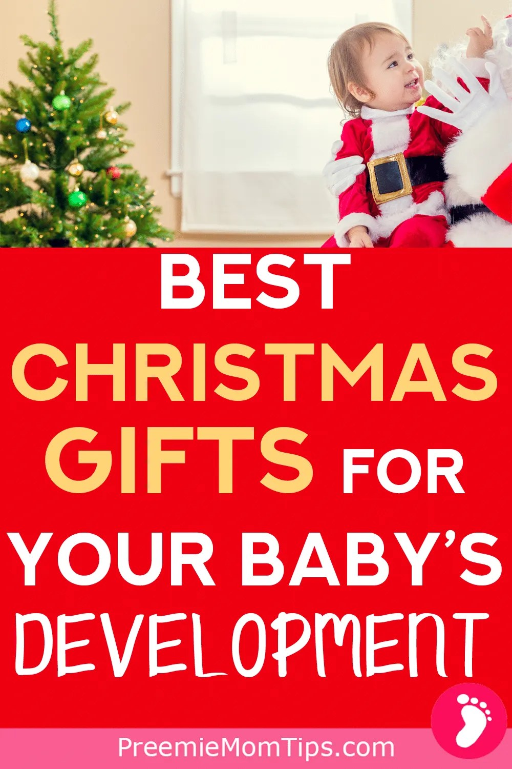 Celebrate your baby's first Holiday season with these gift ideas that will help your baby's development month by month