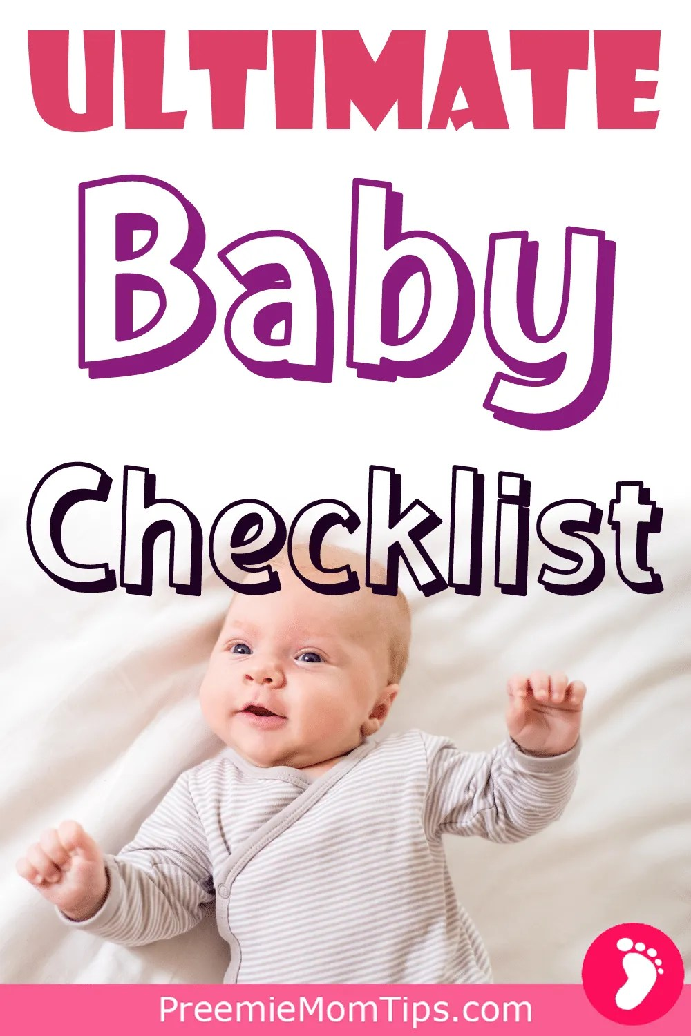 Start your baby registry the right way with the ultimate checklist, with everythign you need for you and your little one!