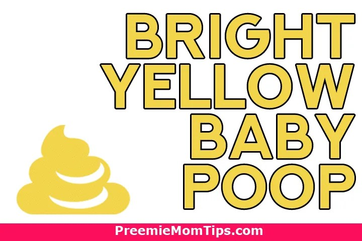 What does brigth yellow baby poop mean?