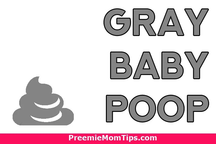 What does gray baby poop mean?