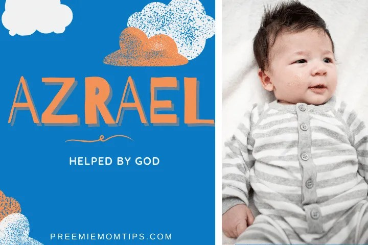 Azrael is a trending baby name for boys, meaning helped by God.